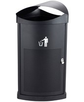 Safco Nook Indoor/Outdoor Waste Receptacle 9968BL