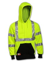 High Visibility Flame Resistant Hooded Sweat-Shirt with Reflective Tape S88122.XL