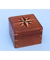 Hardwood Case with Hand Inlaid Compass Rose SLHCHC
