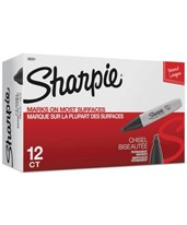 Sanford Sharpie Chisel Tip Black Permanent Marker (Box of 12) SN38201/BX