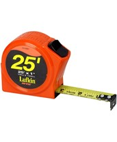 "Lufkin 1""x25' Power Return Tape  Inches/Tenths 120128"