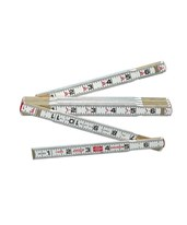 1066D 6-Foot Red End Folding Ruler 1066DN