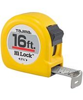 Tajima Hi-Lock Standard Scale Tape Measure, 16' HL-16BW