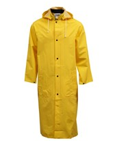 "48"" Yellow Coat - Slash Pockets, Hood Snaps (Includes Detachable Hood) C53217.MD"