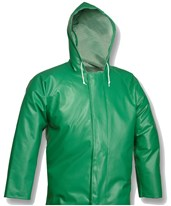 ACID SUIT - Green Jacket - Storm Fly Front - Attached Hood J41108.SM