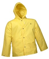 Flame Resistant Yellow Jacket Storm Fly Front and Attached Hood J56107.SM