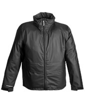 Black Jacket - Zipper Front - Attached Hood - Retail Packaged J67113.SM