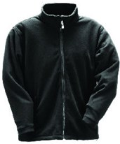 3.1 - Heavy Weight Fleece Jacket – Black – Zipper Fly Front J72003.SM