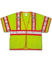 High Visibility Two-Tone Safety Vest Fluorescent Yellow Green V70332.S-M