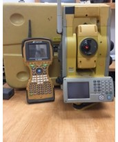 Topcon GPT-9005A Robotic Total Station & FC-2600 Data Collector w/ Software