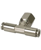 "1/4"" NPT Swivel T-Fitting Push-to-Connect Fitting 11818"