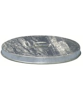 Galvanized Flat Lid for Witt Industries Waste Receptacles (Set of 6) FT256G