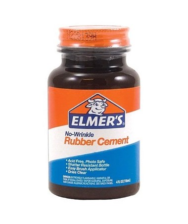 Elmer's No-Wrinkle Rubber Cement 12320