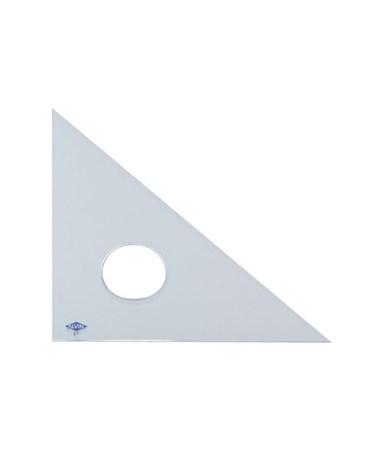 Alvin Clear Professional Acrylic Triangle 45°/90° 131C-0