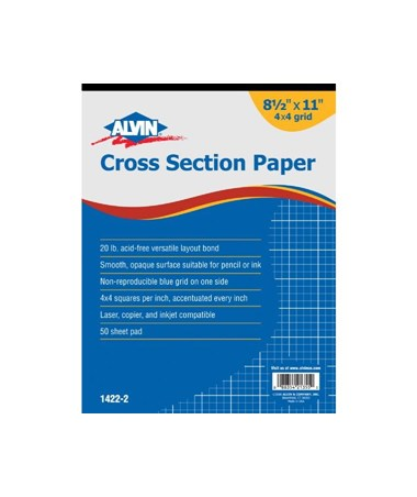 Alvin Cross Section Paper With 4 x 4 Grid 1422-20