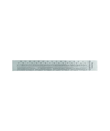"General 6"" Vocational Stainless Steel Ruler 1506"