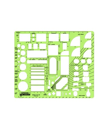 "Rapidesign ABC Architectural Template (½"" Scale) 22RB"