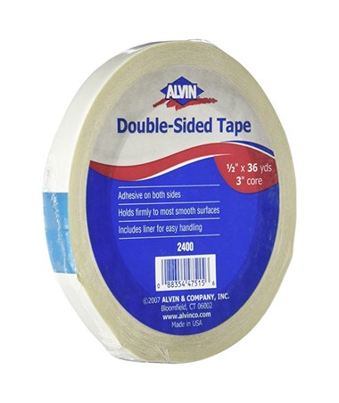 "Alvin 1/2""T x 36 yards Double-Sided Tape, Qty. 1 2400"
