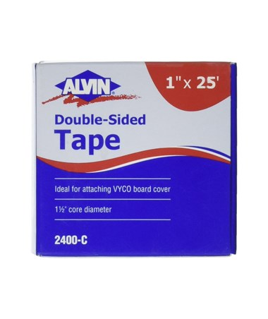 "Alvin 1""T x 25'L Double-Sided Tape, Qty. 1 2400-C"