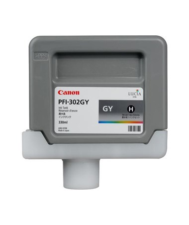 Canon PFI-302GY Gray Pigment Ink Tank Set of 6 2913B003AA