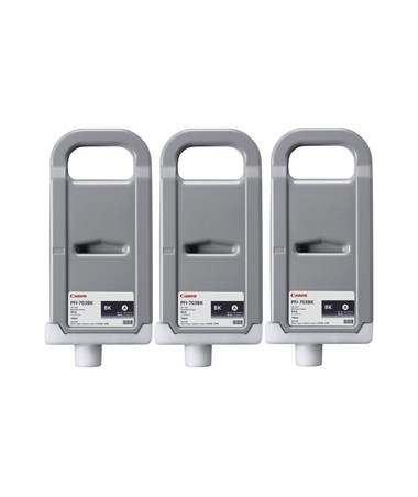 Canon PFI-703BK Dye Blak 700mL Ink Tank (Set of 3) 2963B003AA