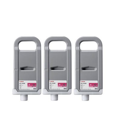 Canon PFI-703M Dye Magenta 700mL Ink Tank (Set of 3) 2965B003AA