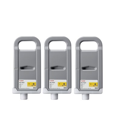 Canon PFI-703Y Dye Yellow 700mL Ink Tank (Set of 3) 2966B003AA