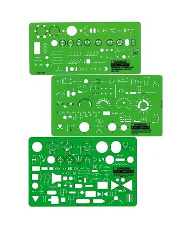 apidesign Electrical/Electronic Template (3-Piece Set) 300R