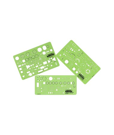 Rapidesign Electrical/Electronic Template (3-Piece Set) 300R