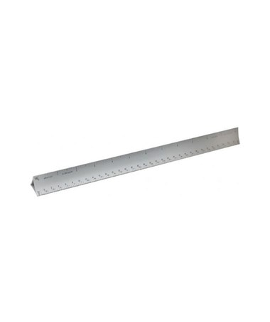 Alumicolor 3000 Series Hollow Aluminum Metric Triangular Scale 3430-1