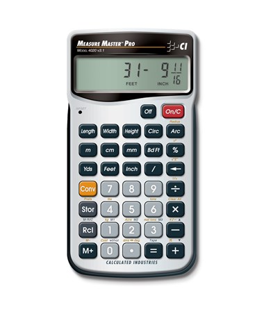Calculated Industries Measure Master Pro Calculator