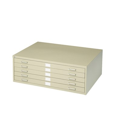 Safco 5-Drawer Steel Flat File TRopic Sand 4994TSR