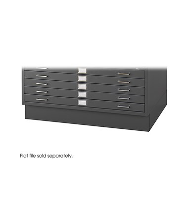 "Closed Base for Safco 30"" x 42"" Sheets Steel Flat Files, Black 4997BLR"