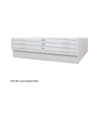 "Closed Base for Safco 30"" x 42"" Sheets Steel Flat Files, White 4997WHR"