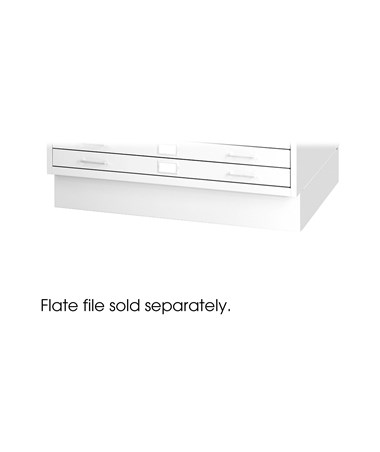 "Closed Base for Safco 36"" x 48"" Sheets Steel Flat Files, White 4999WHR"