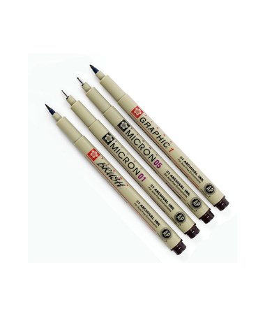 Sakura Pigma Sepia Drawing Set (4-Piece) 50040