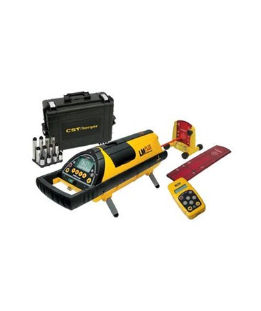 CST Berger Pipe Laser 59-LMPL20 Kit: pipe laser, leg set, target set, carrying case, and remote