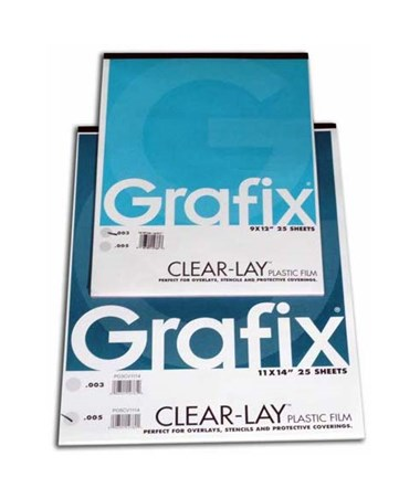 Grafix Clear-Lay Vinyl Film Pad (25-Sheet) 6302-5