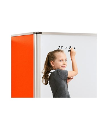 Double-Sided Whiteboard and Flannel Partition