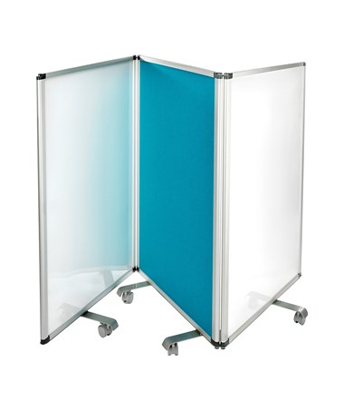 Double-Sided Whiteboard and Flannel Partition 693-45-32-BLU-