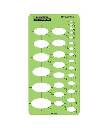 Rapidesign Ellipse Series Template Set (Qty. 10) 70R