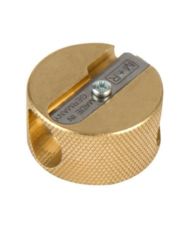 Alvin Solid Brass Double-Hole Round Pencil Sharpener (Pack of 12) 9867