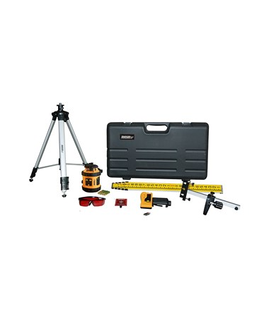 Johnson Level 40-6517 Rotary Laser with Laser Receiver, Wall Mount, Tripod and Grade Rod JOH40-6517