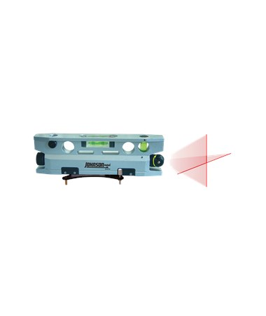Johnson 3-Vial Magnetic Torpedo Laser Level with Base 40-6174