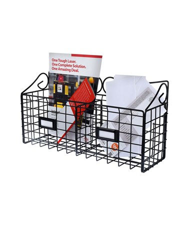 AdirHome 2-Slot Wire Mail Basket ADI304-02