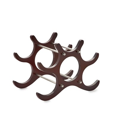 AdirHome 6-Bottle Wooden Wine Rack - Cherry 304-CRY