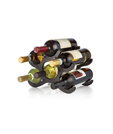 AdirHome 6-Bottle Wooden Wine Rack - Espresso 304-ESP
