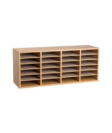 24 Compartments - Medium Oak