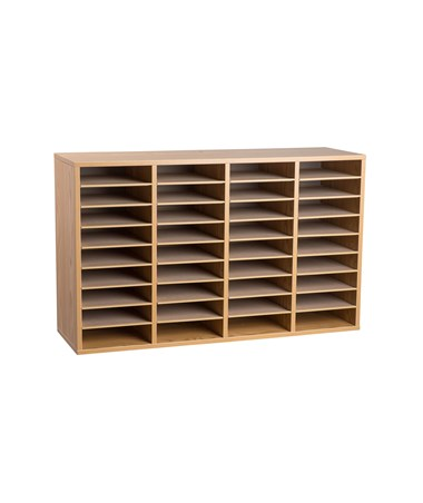 36 Compartments - Medium Oak
