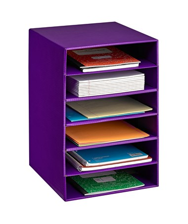 AdirOffice 6-Shelf Organizer for Schools and Offices Purple 501-06-PUR